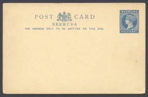 1885 Halfpenny Inland Postal Card