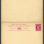 1893 One Penny Postal Card with Reply Card