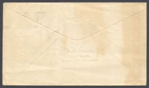 1914 First World War reverse Censor Cover