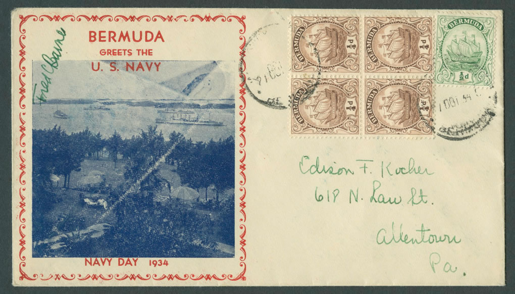1934 Navy Day Bermuda CC