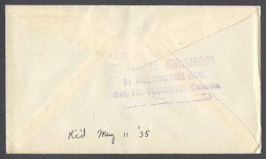 1935 King George V Silver Jubilee reverse FDC