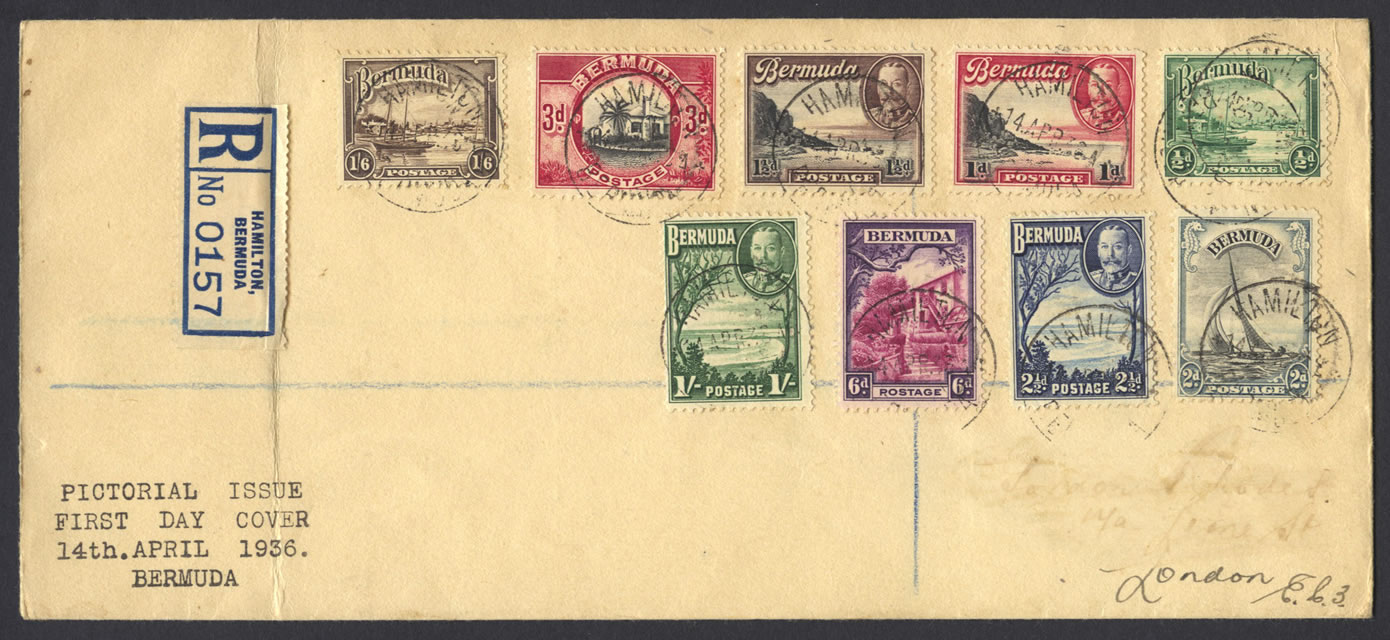 1936 KGV Pictorial Issue set FDC
