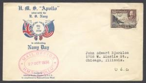 1936 Navy Day HMS Apollo join the US Navy