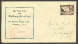 1936 HMS Apollo Birthday Greetings to KGVI