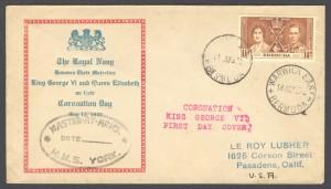 1937 Royal Navy Coronation FDC