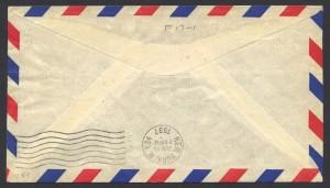 1937 Cavalier Bermuda to New York reverse First Flight
