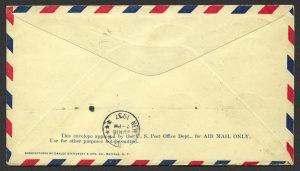 1937 First Flight Bermuda New York FF Block of 6 2 half d