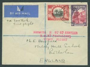 1937 Cavalier Bermuda to New York First Flight