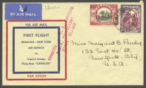 1937 First Flight Bermuda New York FF