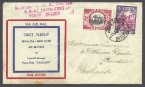 1937 First Flight Bermuda New York FF