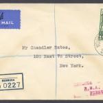 1937 Cavalier Bermuda to New York 1sch reg First Flight