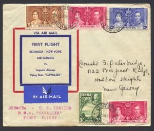 1937 RMA Cavalier First Flight Bermuda New York FF