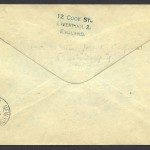1937 Cavalier Bermuda to New York 1sch 3d reverse First Flight