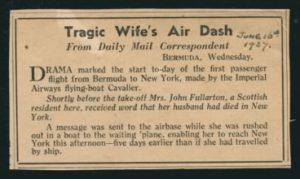 Tragic Wife's Air Dash Daily Mail