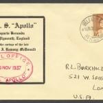 1937 HMS Apollo departs Bermuda with the Cortege of Ramsay McDonald CC