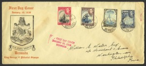 1938 King George VI Pictorials FDC
