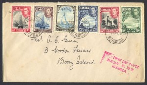 1938 King George VI Pictorials set FDC