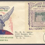 1939 First Flight FAM17 Baltimore Bermuda Cachet 2 FF