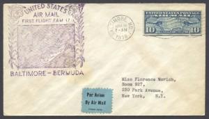 1939 First Flight FAM17 Baltimore Bermuda FF