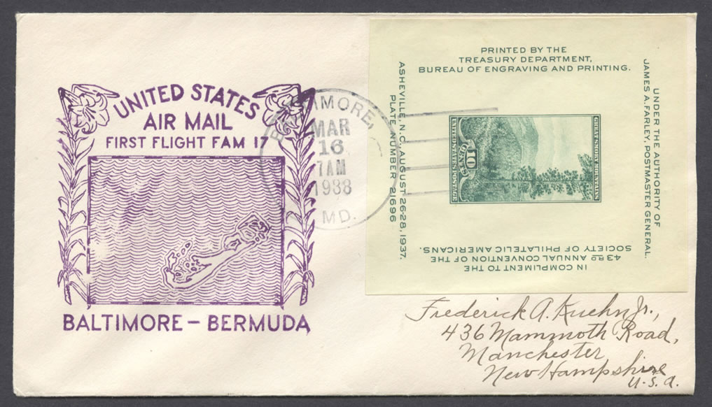 1939 First Flight FAM17 Baltimore Bermuda FF