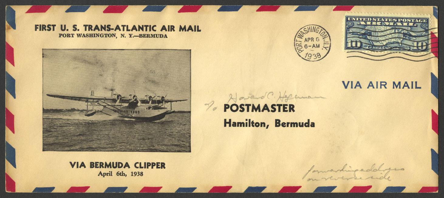 1938 First US Trans-Atlantic Air Mail FF
