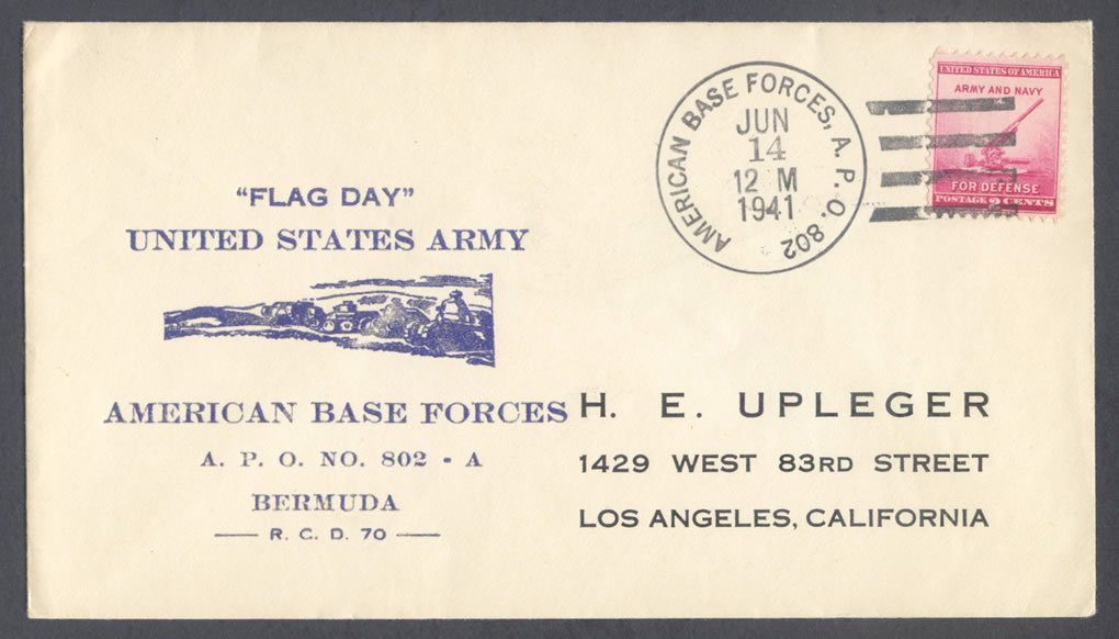 1941 Flag Day US Army American Base Forces