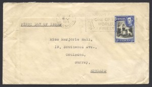 1941 King George VI 3d Pictorial FDC