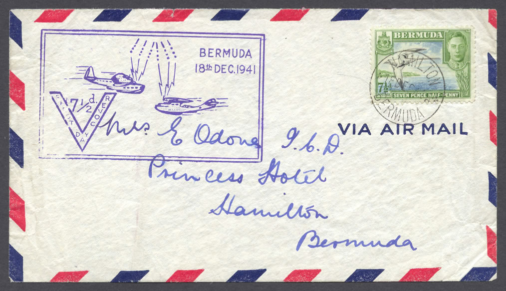 1941 Seven and Half-Penny KGVI Pictorial AirmailFDC