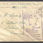 1947 Colonial Airlines Inaugural Flight New York FF
