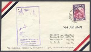 1947 Colonial Airlines Inaugural Flight Washington DC FF