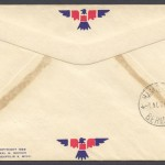 1947 FAM33 Colonial Airlines New York to Bermuda reverse FF