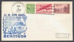 1947 FAM33 Colonial Airlines Washington to Bermuda FF