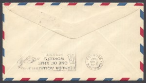 1947 FAM 33 Washington DC to Bermuda reverse FF