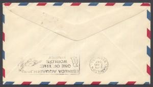 1947 FAM 33 Washington DC to Bermuda reverse FF