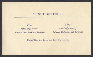 BOAC First Speedbird Constellation Flight Bermuda to New York liner