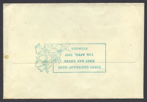 1949 Perot Centenary plain reverse FDC