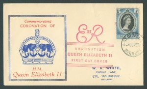 1953 Queen Elizabeth II Coronation FDC