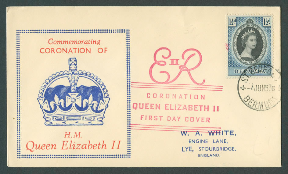 1953 ERII Coronation FDC