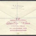 1953 QEII Issue Definitive reverse FDC