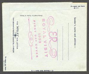 1953 Royal Visit Aerogramme FDC