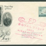 1953 Royal Visit Art Craft FDC