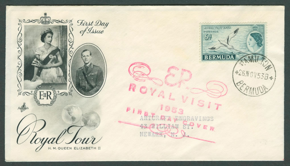 1953 Royal Visit Art Craft FDC
