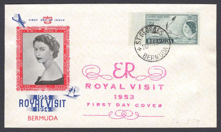 1953 Royal Visit Three Arrows FDC