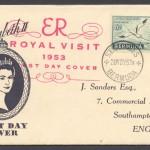1953 Royal Visit November FDC