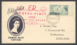 1953 Royal Visit November FDC