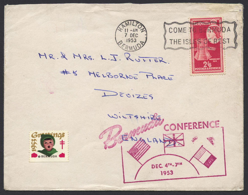 1953 Bermuda Conference Cachet Commemorative Cover