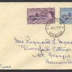 1953 Bermuda Conference overprints FDC