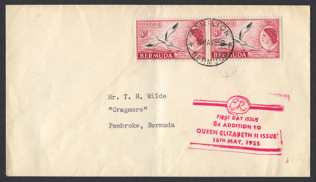 1955 8d White-tailed Tropicbird Phaeton flavirostris FDC