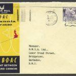 1958 BOAC First Flight London to Caracas FF
