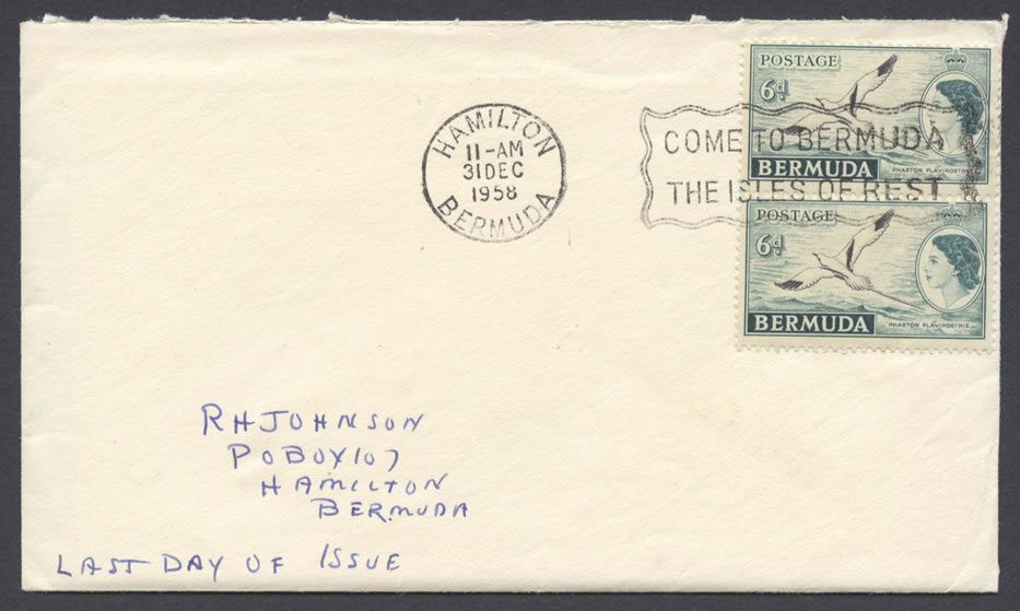 1957 Royal Visit Last Day of Issue